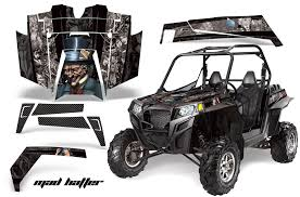 Amr Racing Full Custom Utv Graphics Decal Kit Wrap Mad Hatter Black Silver Polaris Rzr Xp 900 11 14 Pol Rzr900xp 11 14 Mh Ks