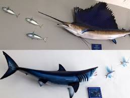 r and freshwater fish replicas