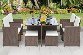 9pc rattan cube set garden deals in