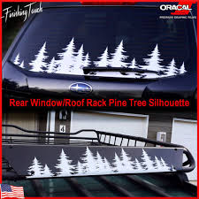 This Is Unique Rear Window Forest Line Vinyl Decal Designed By Finishing Touch Vinyl Art This Decal Can Be Pine Tree Silhouette Tree Decals Rear Window Decals
