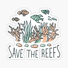 Save The Reef Stickers Redbubble