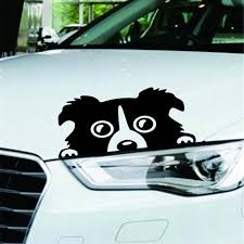 Car Styling Cartoon Sticker Universal Reflective Dog Pets Car Decoration Black White Decal Accessories Waterproof 14 8cm Car Stickers Aliexpress