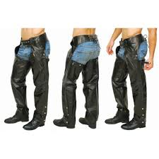 pocket chaps with zip thigh leather chap