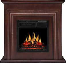 wood electric fireplace mantel package