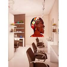 Shop Afro Girl Polygonal Wall Decal Beauty Salon Polygon Modern Wall Art Spa Decor Overstock 31812564