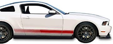 Amazon Com Bubbles Designs 2x Decal Sticker Vinyl Side Racing Stripes Compatible With Ford Mustang Gt 4 6l V8 2005 2010 Automotive