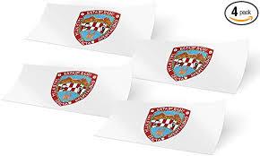 Desert Cactus North Carolina Nc State Flag Sticker Decal Variety Size Pack 8 Total Pieces Kids Logo Scrapbook Car Vinyl Window Bumper Laptop V Exterior Accessories Bumper Stickers Decals Magnets