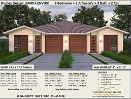 exclusive duplex 6 bedroom house plans