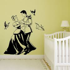 Cinderella And Prince Charming Vinyl Wall Art Decal