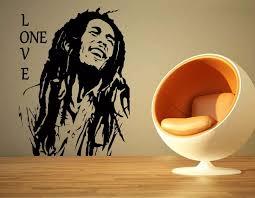 Bob Marley Reggae Rasta Jamaica Large Vinyl Transfer Stencil Decal Sti Borizcustom
