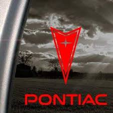 Amazon Com Pontiac Red Decal Windshield Car Truck Window Red Sticker Everything Else