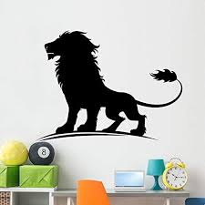Amazon Com Wallmonkeys Lion Wall Decal Peel And Stick Animal Graphics 60 In W X 45 In H Wm319892 Home Kitchen