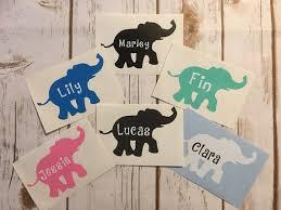 Elephant Decal Custom Elephant Decal Tumbler Decal Yeti Etsy