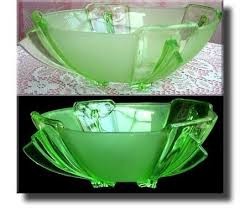art deco vaseline glass uranium glass