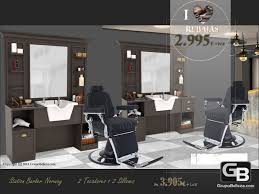 hair salon furniture barber station