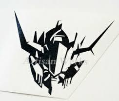 Gundam Barbatos Head Vinyl Decal Sticker Robot Manga Anime Wall Window Car Decal Ebay