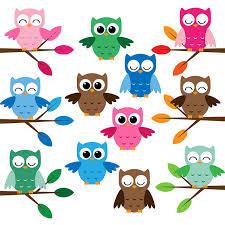 owls cute free clip art