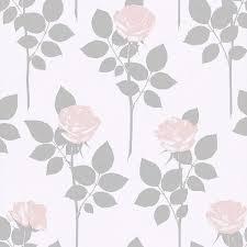 lundgren off white rose wallpaper