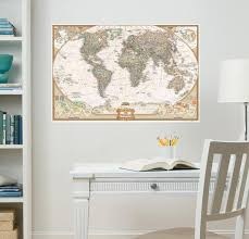 National Geographic World Map Executive Wall Decal Sticker Wall Decal Allposters Com