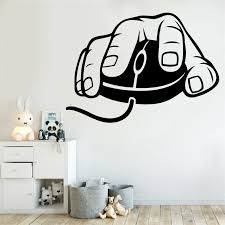 Computer Mouse Wall Decal Gaming Gamer Video Game Vinyl Sticker Kids Teen Room Wall Art Bedroom Decor Wall Stickers Aliexpress