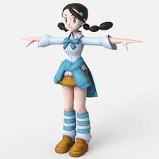 Candice from Pokemon Free 3D Model