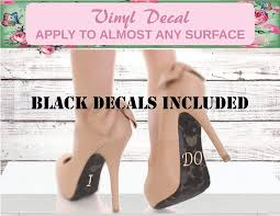 Amazon Com I Do Shoe Decal Black Vinyl Decal Wedding Shoe Decal Custom Wedding Decals Bridal Shower Decals I Do Bridal Shower Bride Gift Bride Decal I Do Heel Decal Me Too Decal