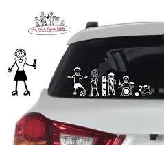 My Stick Figure Family Car Window Stickers Adult Female Glass Etsy