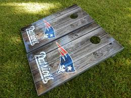 Grey Decor Decals Stickers Vinyl Art New England Patriots Vintage Wood Cornhole Board Decal Wrap Wraps Stickers Home Garden