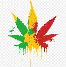 rasta weed leaf png image with