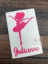 Ballet Decal Dance Decal Personalized Ballerina Etsy