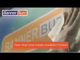 Clear Vinyl Decal Outside Installation Process Youtube