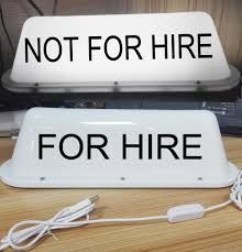Car Not For Hire Sign Rideshare Led Light Cab Top For Hire Logo For Taxi Driver Custom Car Emblems Different Car Badges From Liulangwilliam 20 11 Dhgate Com