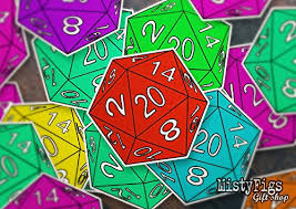 Mistyfigs Vinyl Sticker Dnd Dice D20 Critical Hit Roll Role From Amazon Shefinds