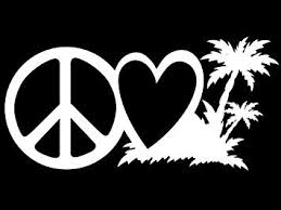 Amazon Com Peace Love Beach Life Vinyl Decal Sticker Cars Trucks Vans Walls Laptops Cups White 7 5 X 3 7 Inch Kcd1619 Computers Accessories