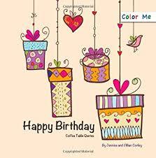 color me happy birthday coffee table quotes amazon co uk jennise