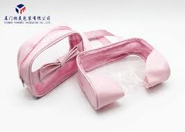 hand clear cosmetic bag 13cm height