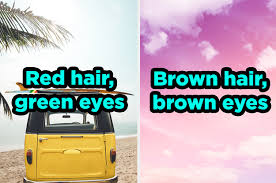 quiz will guess your hair and eye color