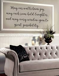 May Our Home Know Joy Wall Decal Family Wall Decal Handwritten Etsy