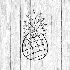 Pineapple Decal Laptop Stickers Macbook Decal Car Decal Etsy