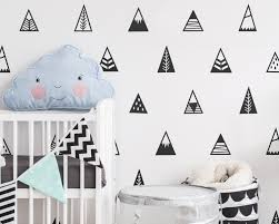 Mountain Wall Decals Nursery Decals Triangle Decals Geometric Decals Vinyl Wall Decals Nursery Decor Cute Tribal Wall Stickers