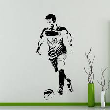 Neymar Football Player Wall Sticker Sports Decal Kids Room Decoration Posters Vinyl Neymar Car Soccer Player Decal Akolzol Com