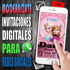 Invitacion Digital 230 Cumpleanos Frozen Elsa Y Anna 99