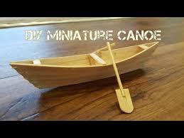 diy miniature canoe you