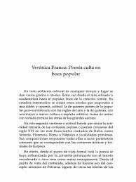 DIAZ, F__La Poesia de Veronica Franco | Poesía