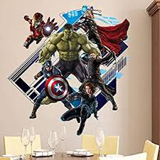 Amazon Com 3d Avengers Art Wall Sticker Kid Room Decor Decal Removable Art Mural Baby