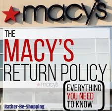 macy s return policy confused here s