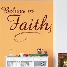 Designer Christian Faith Wall Decal Decor Design Believe In Faith
