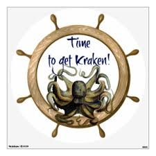 Kraken Wall Decals Stickers Zazzle