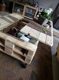 lift top coffee table out of pallets