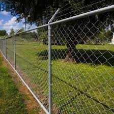 China 7 Feet Galvanized Chain Link Fencing With Barbed Wire China 6ft Chain Link Fence 7ft Chain Link Fence